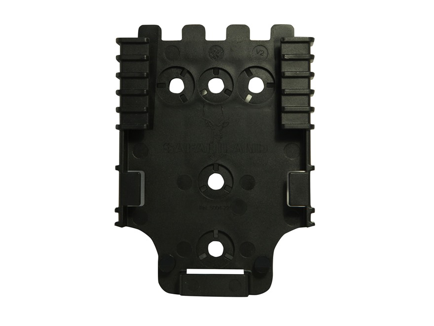 Safariland Quick Locking System QLS 22L Receiver Plate with Lock Polymer Black