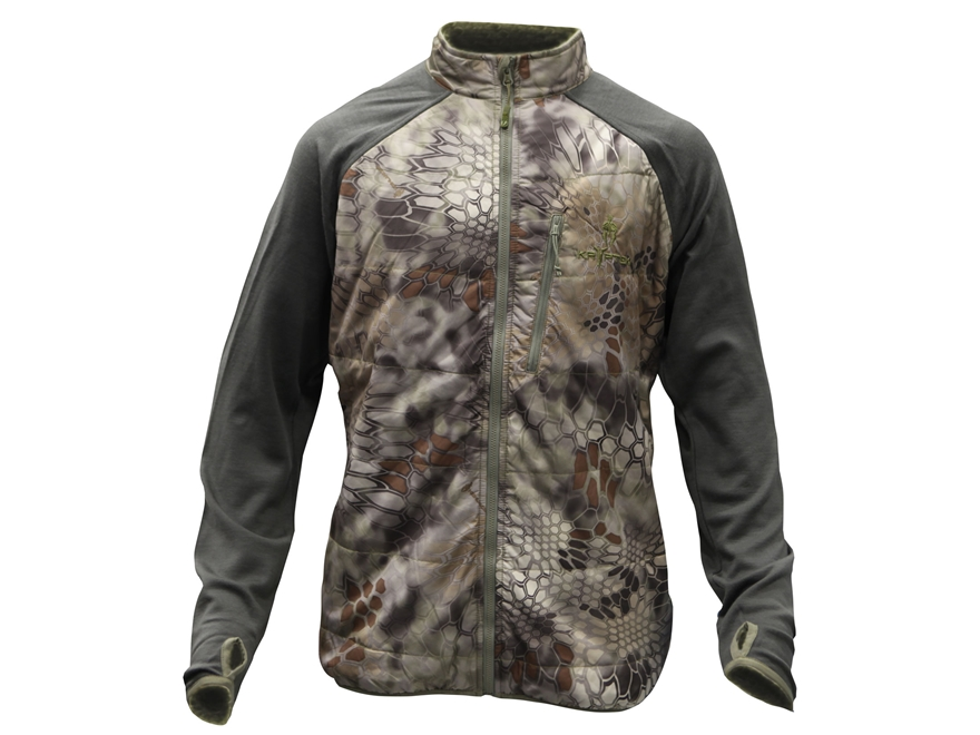 Kryptek Men's Borealis Base Layer Insulated Shirt Wool and Polyester Highlander Camo