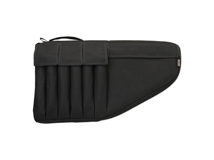 "Uncle Mike's Tactical Submachine Gun Case 24-1/2"" with 6 Pockets Nylon Black"