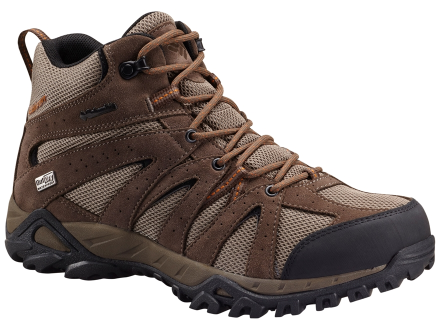 "Columbia Grand Canyon Mid Outdry 6"" Waterproof Hiking Boots Leather/Synthetic"