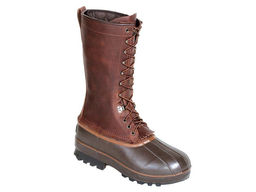 "Kenetrek Northern 13"" 1000 Gram Insulated Waterproof Pac Boots Leather and Rubber Brown..."