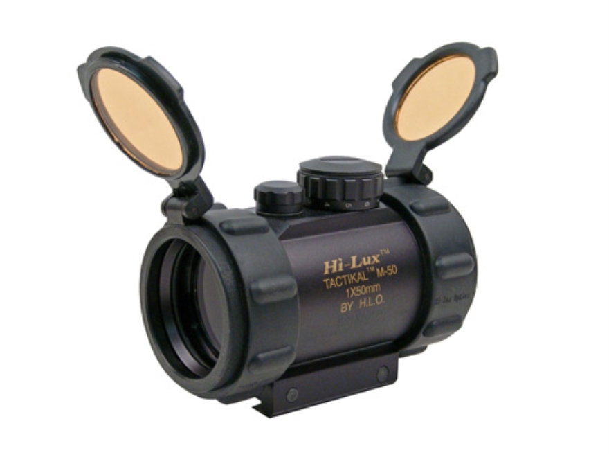 Leatherwood Hi-Lux Tactical Red Dot Sight 50mm Tube 1x 5 MOA Dot with Integral Weaver-S...