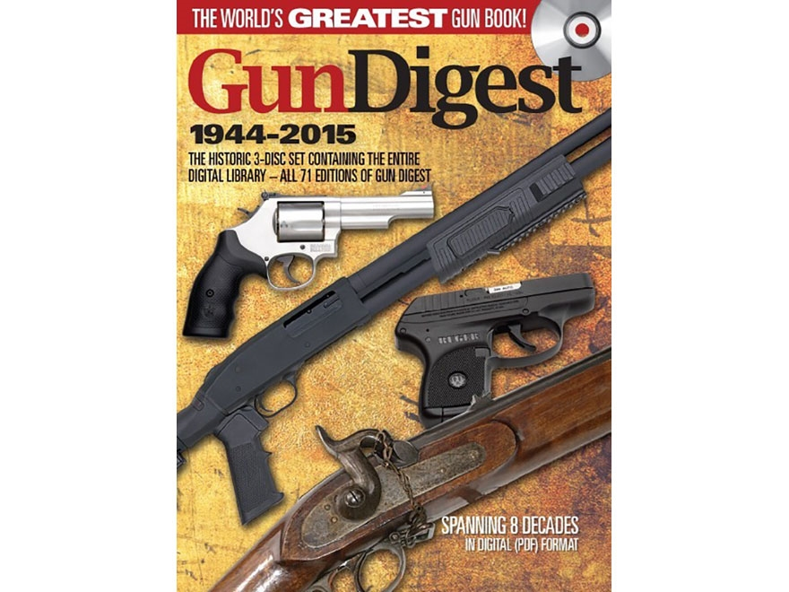 """Gun Digest 1944-2015 3-Disc Set"" CD-ROM"