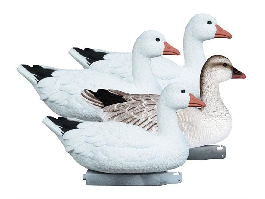Higdon Full Size Foam Filled Floater Snow Goose Decoy Polymer Pack of 4