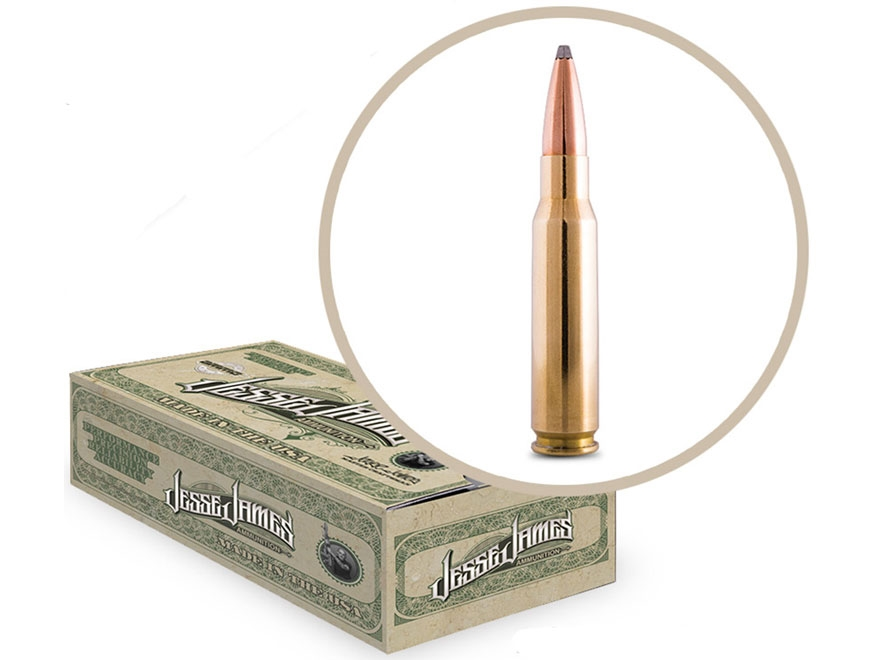 Jesse James TML Ammunition 308 Winchester 150 Grain Soft Point Box of 20