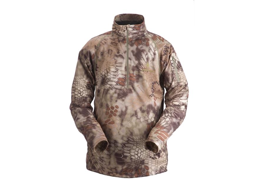 Kryptek Men's Helios Shirt 1/4 Zip Long Sleeve Polyester