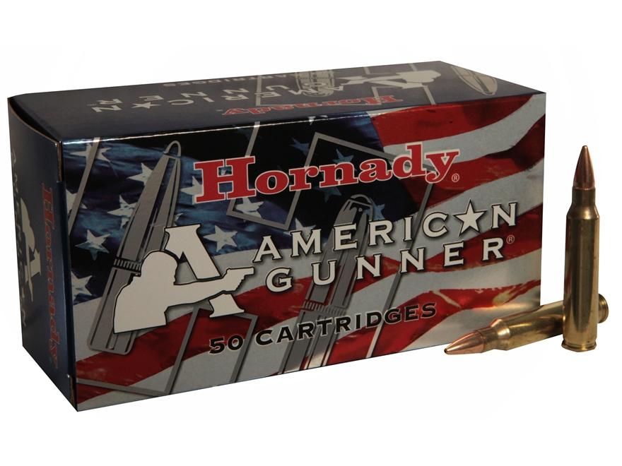 Hornady American Gunner Ammunition 223 Remington 55 Grain Hollow Point Box of 50
