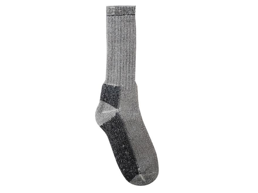 Drake Merino Crew Socks Wool Blend Gray XL