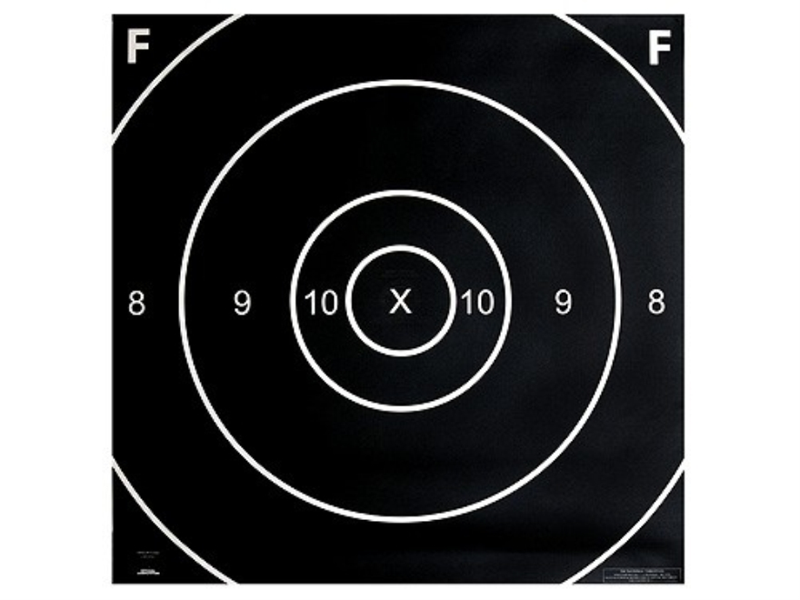 NRA Official F-Class Rifle Targets Repair Center LR-FC 1000 Yard Paper Pack of 100