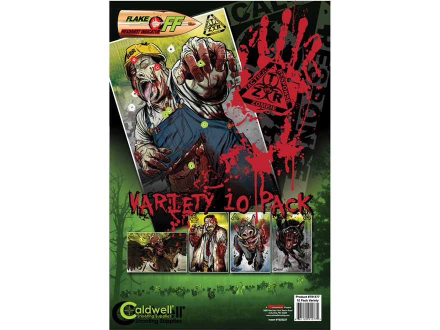 Caldwell ZTR Zombie Flake-Off Combo PackTarget Package of 10