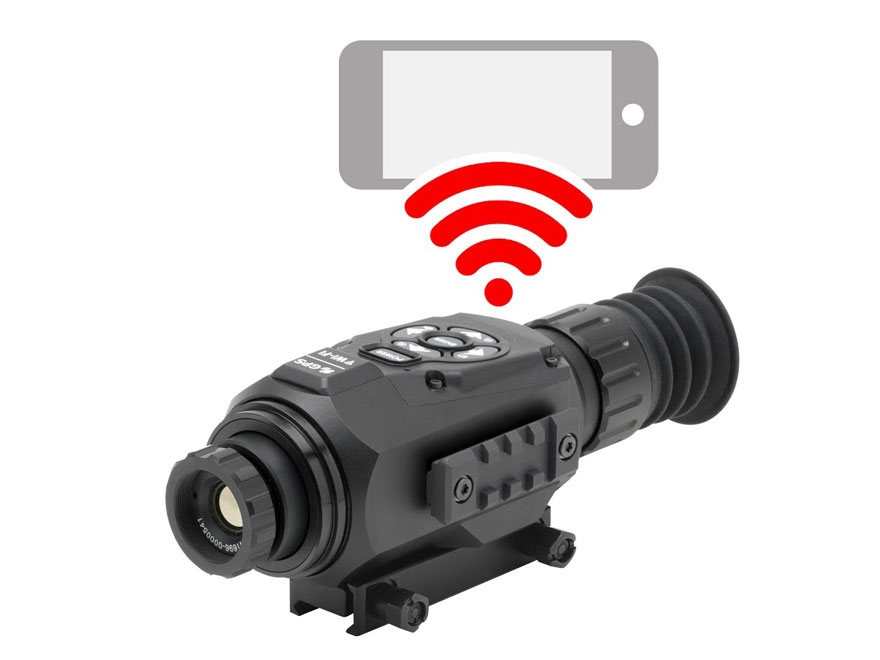 ATN ThOR HD Thermal Rifle Scope 1.25-5x 19mm 384x288 with HD Video Recording, Wi-Fi, GP...