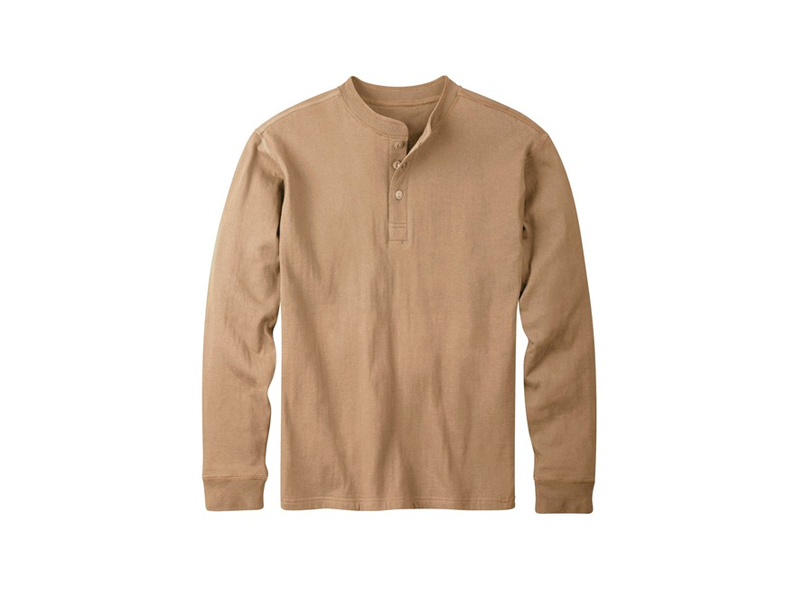 Mountain Khakis Men's Trapper Henley Shirt Long Sleeve Cotton and Polyester