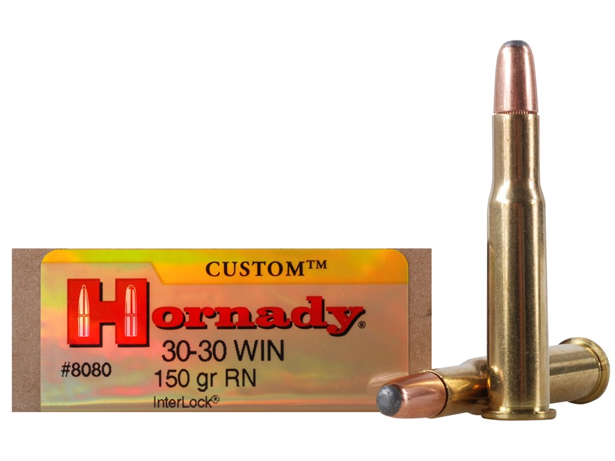 Hornady Custom Ammunition 30-30 Winchester 150 Grain Round Nose Box of 20