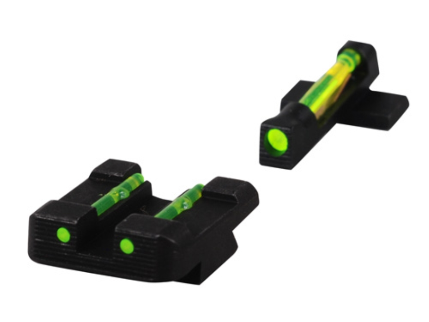 HIVIZ Sight Set Sig Sauer P220, P225, P226, P228, P229, P239 Steel Fiber Optic Green