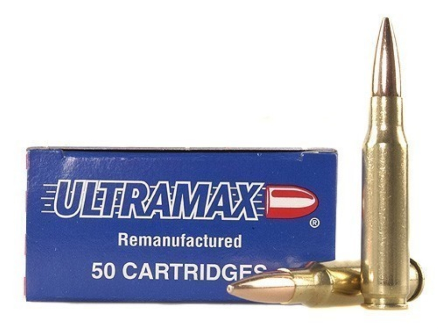 Ultramax Remanufactured Ammunition 308 Winchester 168 Grain Jacketed Hollow Point Box o...