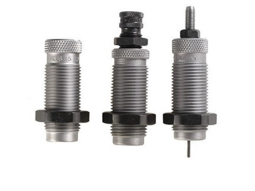 "RCBS Carbide 3-Die Set 50 Action Express (1""-14 Thread) with 1-1/4""-12 Thread Adapter B..."