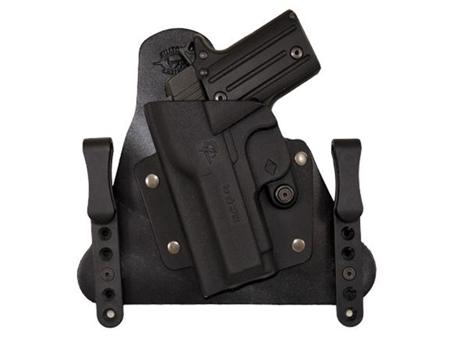 Comp-Tac Cavalry Inside the Waistband Holster Kimber Solo Kydex and Leather Black