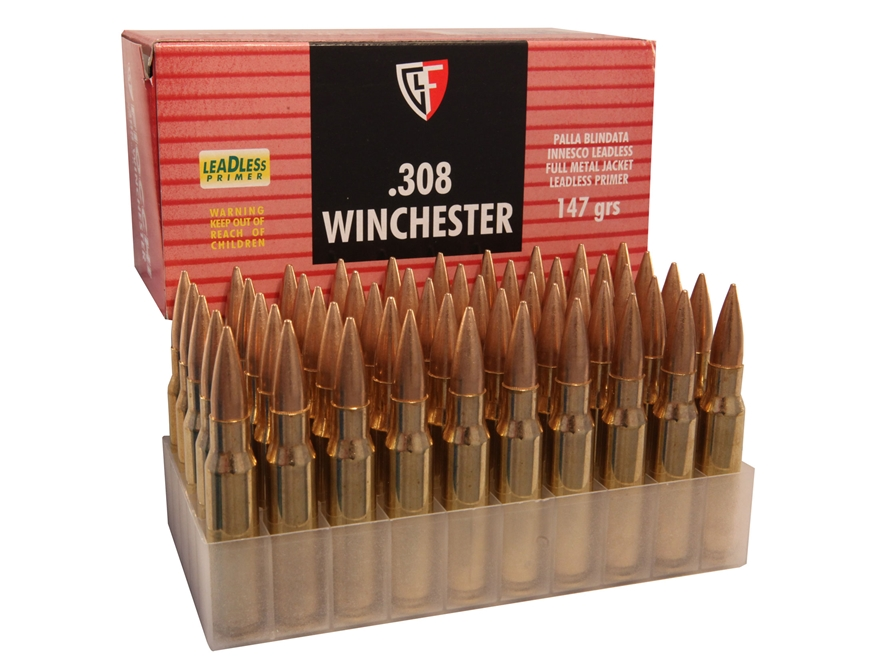 Fiocchi Ammunition 308 Winchester 147 Grain Full Metal Jacket Boat Tail Box of 50