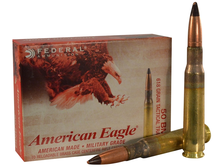 Federal American Eagle Tactical Tracer Ammunition 50 BMG 618 Grain M17 Full Metal Jacket