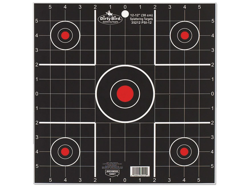 "Birchwood Casey Dirty Bird 12"" Sight-In Targets Package of 12"