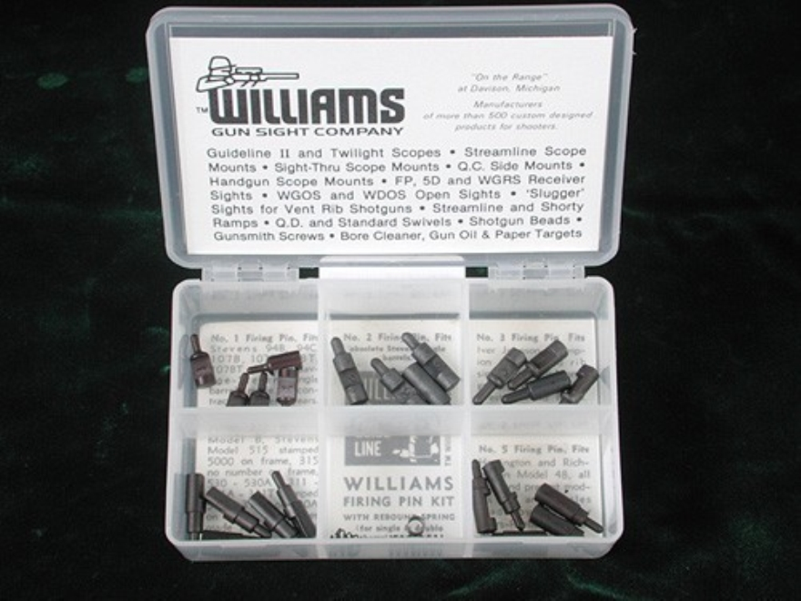 Williams Firing Pin Kit Steel Black