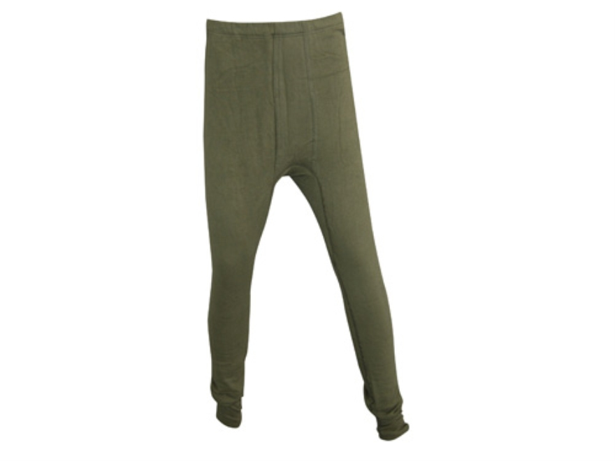 Military Surplus German Fleece Long John Pants Grade 1 Olive Drab Large