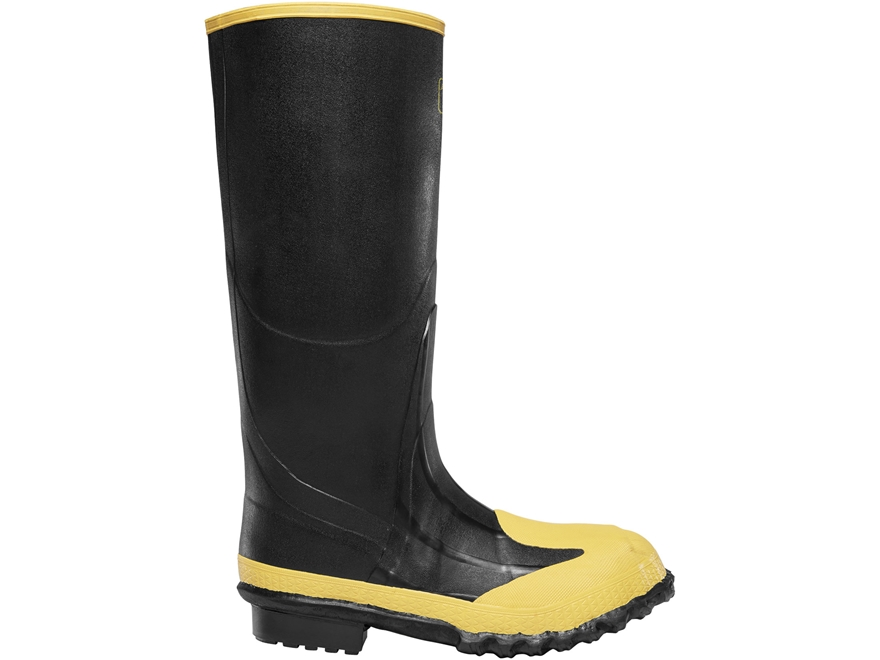 "LaCrosse Meta Pac 16"" Waterproof Steel Toe Steel Midsole Work Boots Rubber Black Men's"