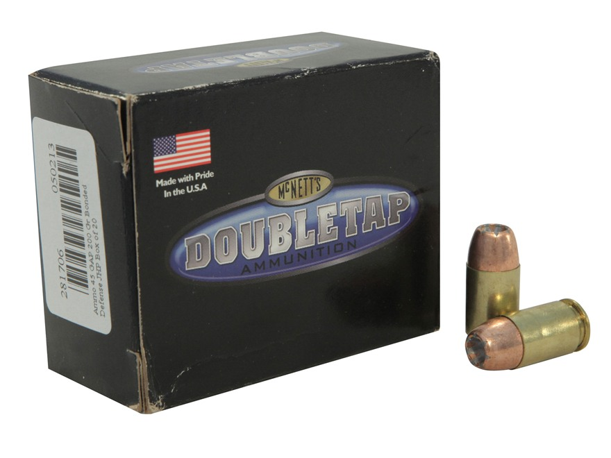 Doubletap Ammunition 45 GAP 200 Grain Bonded Defense Jacketed Hollow Point Box of 20