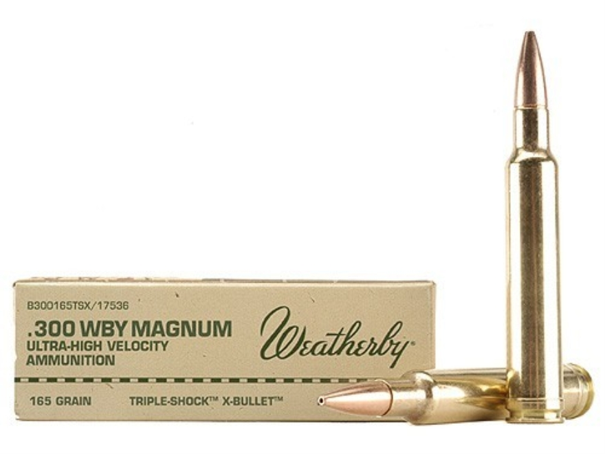 Weatherby Ammunition 300 Weatherby Magnum 165 Grain Barnes Triple-Shock X Bullet Hollow...