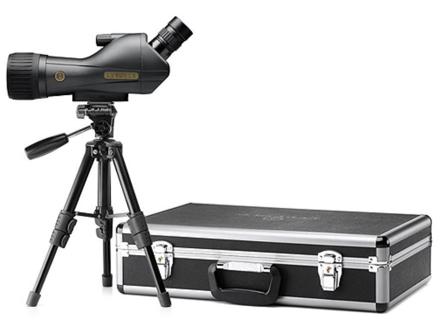 Leupold SX-1 Ventana Spotting Scope 15-45x 60mm Angled Body Armored Black with Tripod, ...