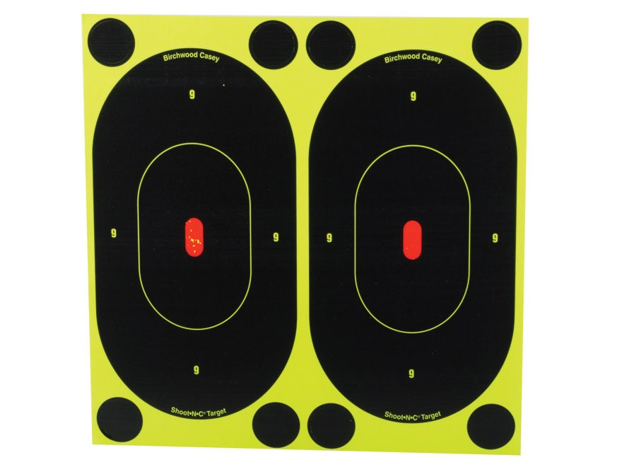 "Birchwood Casey Shoot-N-C Targets 7"" Silhouette Pack of 60 with 240 Pasters"