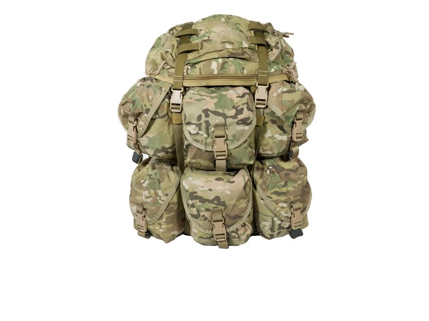 Military Style 8 Pocket Light Backpack Kit Multicam
