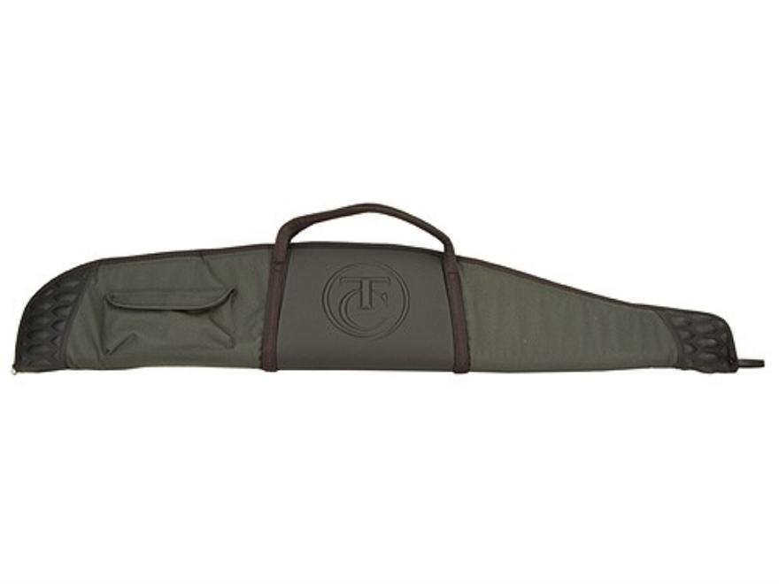 "Thompson Center Scoped Rifle Gun Case 52"" with Pocket Nylon Green with Black Trim and T..."