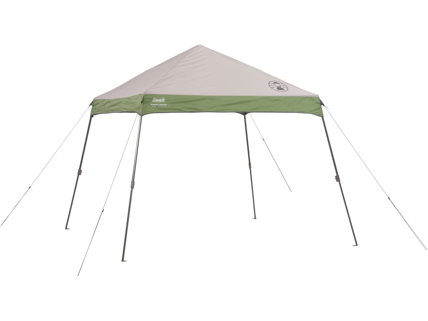 "Coleman 120"" x 120"" Wide Base Instant Shelter Green and White"