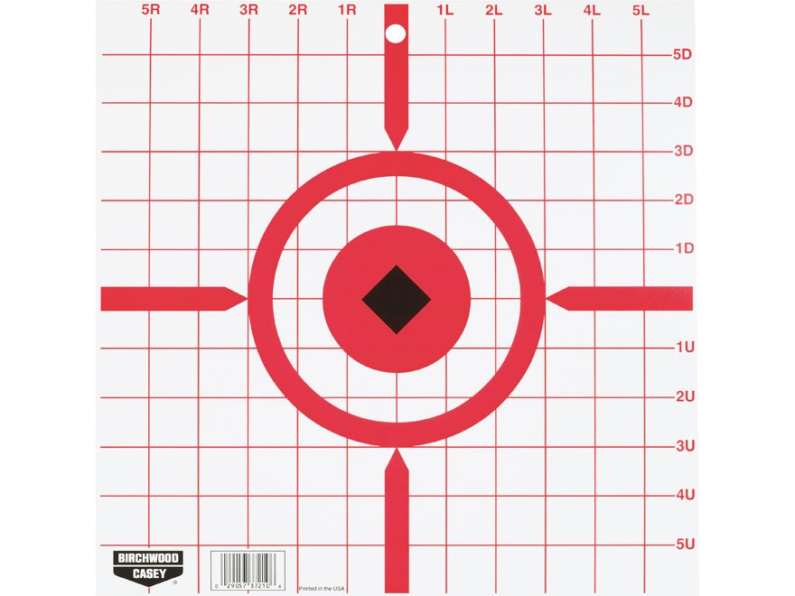 "Birchwood Casey Rigid 12"" Crosshair Sight-In Tagboard Target Pack of 10"
