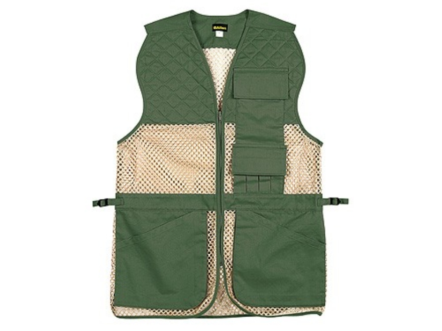"Allen Ace Shooting Vest Ambidextrous Cotton and Mesh Green and Tan 46"" to 52"""