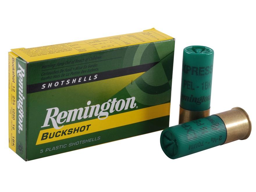 "Remington Express Ammunition 12 Gauge 2-3/4"" #1 Buckshot 16 Pellets Box of 5"