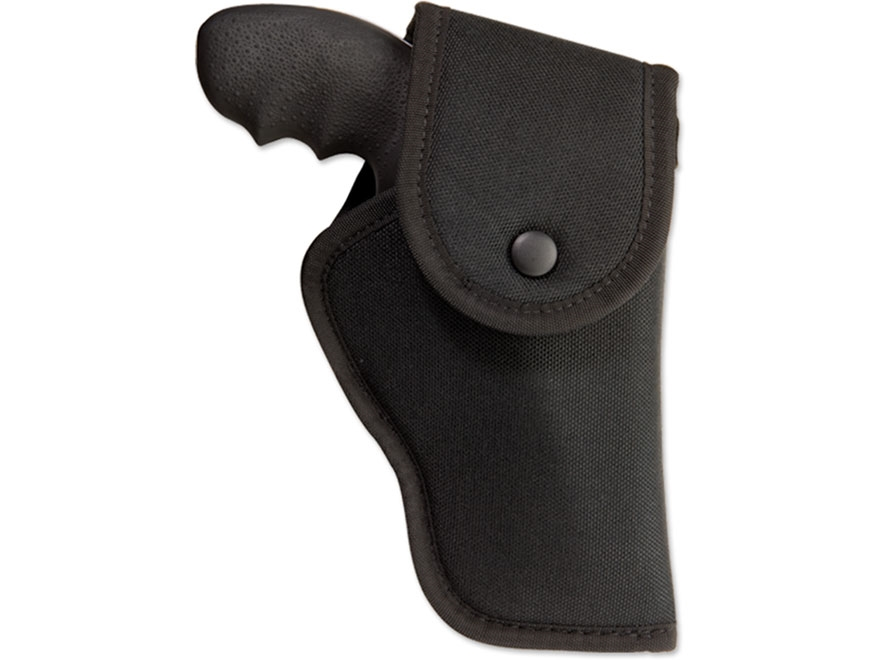 """Uncle Mike's Hip Holster with Flap S&W X-Frame 460, 500 8.375"""" Barrel Nylon Black"""