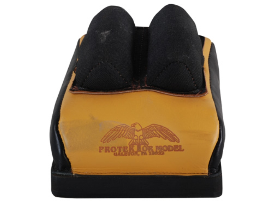 Protektor Custom Bumble Bee Dr Cordura Bunny Ear Rear Shooting Rest Bag Leather Tan Filled