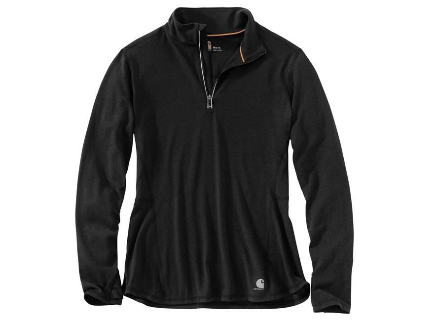 Carhartt Women's Force Ferndale 1/4 Zip Shirt Long Sleeve Shirt Polyester/Cotton