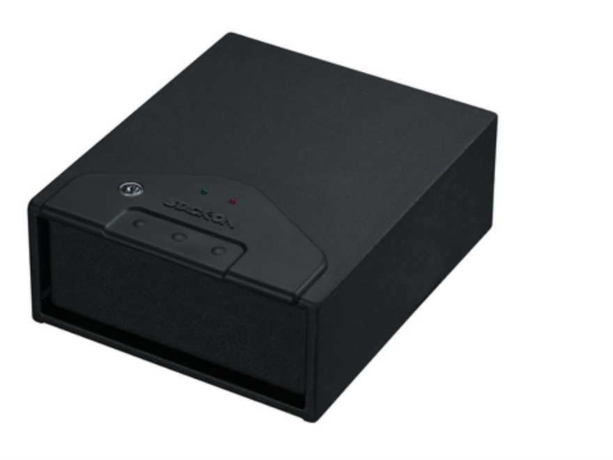 Stack-On Quick Access Drawer Safe with Spring-Loaded Drawer Black