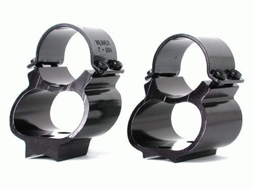 """Weaver 1"""" Steel Lock See-Thru Ring Mount FN Series Gloss"""
