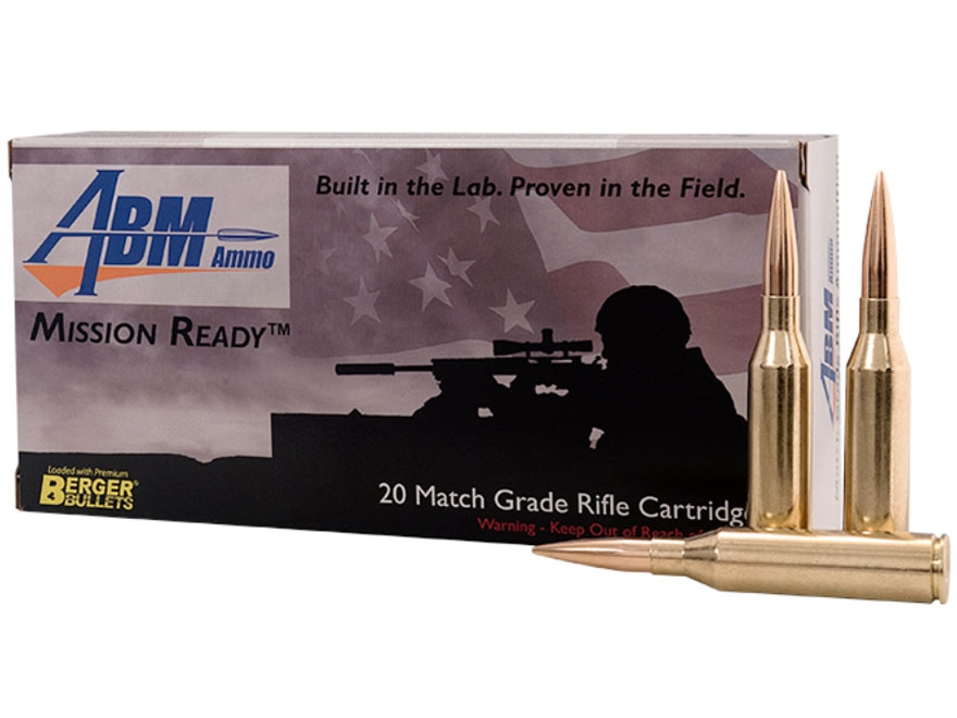 ABM Mission Ready-Tactical Ammunition 300 Norma Magnum 230 Grain Berger Match Hybrid Bo...