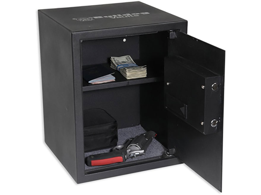 "Bulldog Standard Digital Pistol Vault Security Box 17-1/2"" x 13-1/2"" x 13-1/2"" Steel Black"