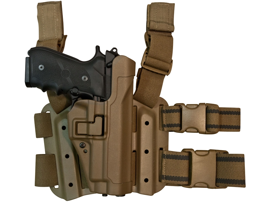 Military Surplus Thigh Holster Right Hand Sig 220, 226, 228, 229 Grade 2 Tan Polymer
