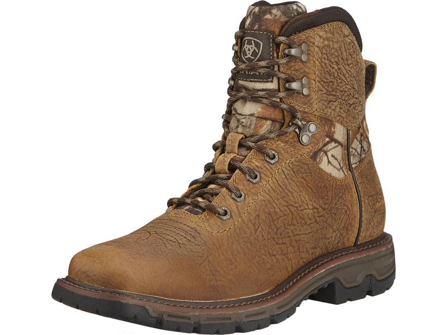 """Ariat Conquest 6"""" H2O Waterproof Uninsulated Hunting Boots Leather Brown/Realtree Xtra ..."""