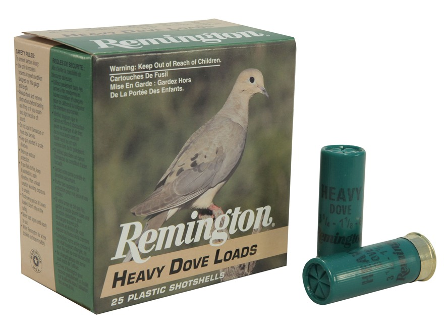 "Remington Heavy Dove Ammunition 12 Gauge 2-3/4"" 1-1/8 oz #6 Shot Box of 25"