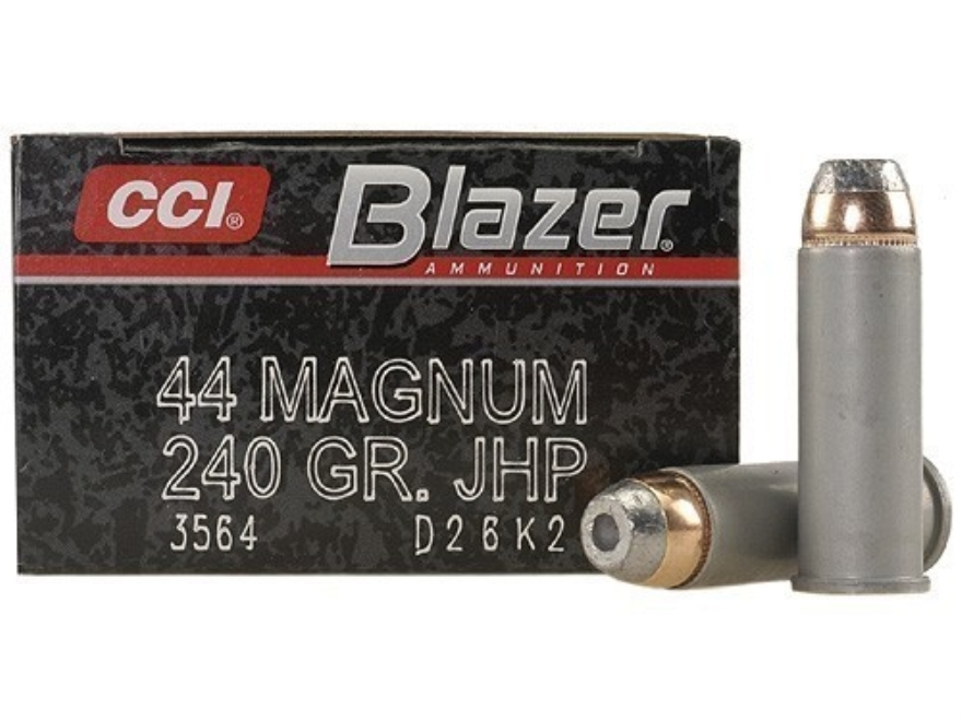 Blazer Ammunition 44 Remington Magnum 240 Grain Jacketed Hollow Point