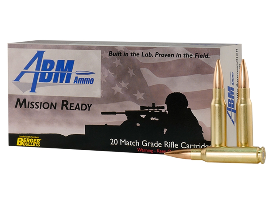 ABM Mission Ready-Tactical Ammunition 308 Winchester 185 Grain Berger Match Juggernaut ...