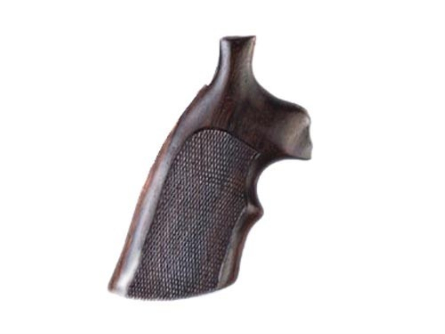 Hogue Fancy Hardwood Grips with Top Finger Groove Colt Python Checkered